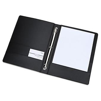 3-ring Pu Leather Binder Files, Travel Portfolios, Fashion Style For Business,