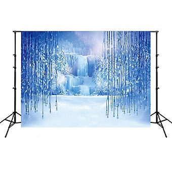 2.1m x 1.5m Frozen Party Setting Snow Photo Background Cloth