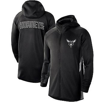 Charlotte Hornets Heathe Showtime Therma Flex Performance Full-zip Hoodie
