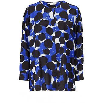 Masai Kläder Ira Blå Fet Tryck Skjorta