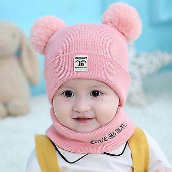 Children's Hat, Scarf Autumn And Winter Newborn Wool Set