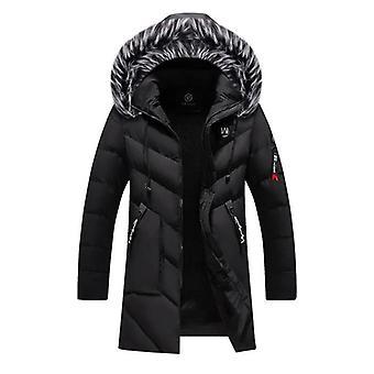 Zimní kožešina Teplá tlustá bavlněná bunda s kapucí Muži