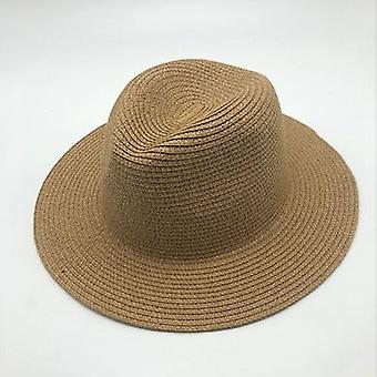 Summer Unisex Sun Hat, Casual Vacation Panama Straw Hat