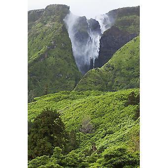 フローレス島アソーレス ポルトガル PosterPrint の滝