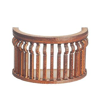 Dolls House Balcony Round C Curve Laser Cut Wooden Gallery 1:12 Scale