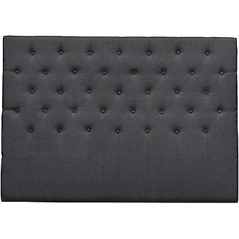 Cabecero de cama acolchado 160 cm 'deco-quot; en tela- Gris oscuro