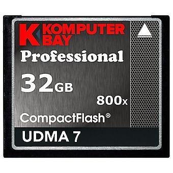Komputerbay 32gb profesionální kompaktní flash karta 800x cf 120mb/s extrémní rychlost udma 7 surový 32gb 800x