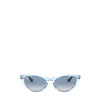 Ray-Ban RB4314N läpinäkyvä vaaleansininen naisten aurinkolasit
