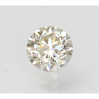 Sertifioitu 0,52 karat H VS2 pyöreä brilliant parannettu luonnollinen löysä timantti 4,91mm