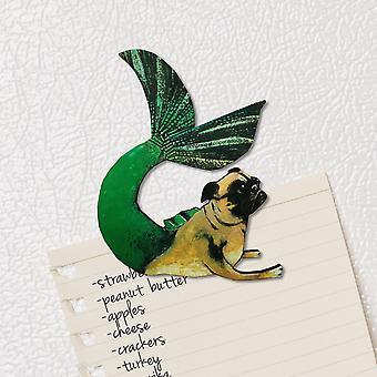 Mermaid Pug Magnet