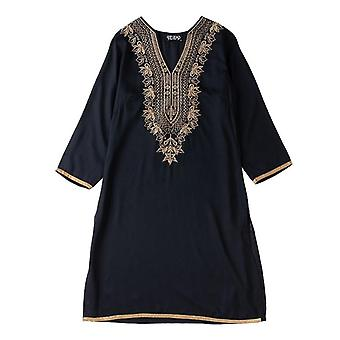 Indian Dress Blouses ethniques Broderie Vestido Indiano India Vêtements Femmes