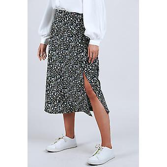 Louche Kiyo Daisyfield Print Midi Skirt