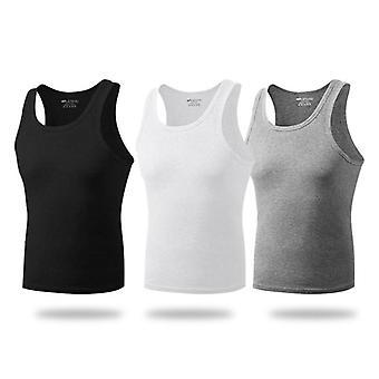 Casual Underwear Stretchy Vest Pure Cotton Breathable Round Neckline Vest