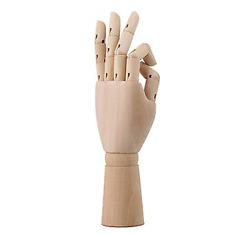 12 Pouces Mannequin Articulate Manikin Main gauche en bois pour le dessin d'art