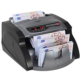 vidaXL Money counting machine for banknotes and banknotes Black and Grey