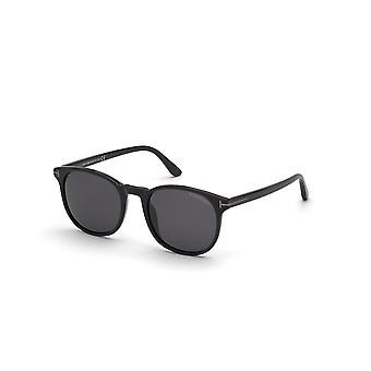 Tom Ford Ansel TF858-N 01A Shiny Black/Smoke Sunglasses