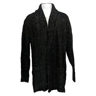 Buffalo David Bitton Sweater Women's XXL Cardigan W/ Pockets Black