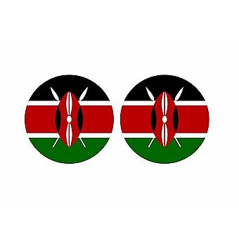 2x stick klistermärke rund cocarde flagga kenya