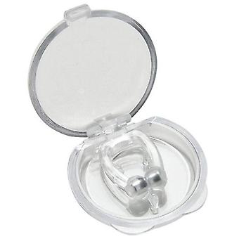 50Pcs silicone nez clip magnétique anti ronflement silencieux sommeil non ronflement solution aide pour dormir
