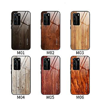 Huawei p20 p30 p40wood grain glass all inclusive anti-drop suojakotelo