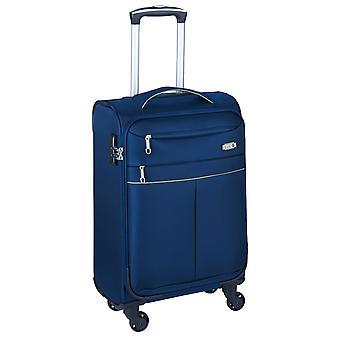 d&n Travel Line 6704 Handbagage Trolley S, 4 wielen, 55 cm, 33 L, blauw