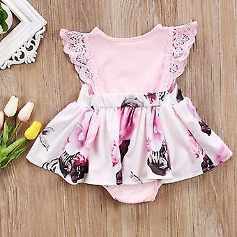 Kukka Matching Vaatteet Baby Romper &mekko