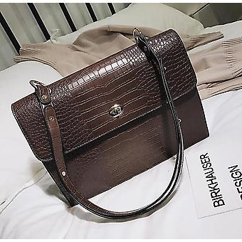 European fashion female big tote bag 2018 new quality pu leather women's large handbag crocodile pattern shoulder messenger bags
