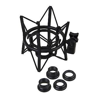 Plast fyrkantig form Spindel stötfäste för mikrofon stor storlek svart