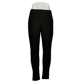 النساء مع التحكم Leggings العادية تناسب سحب على متماسكة الأسود A235949