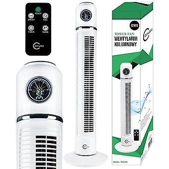 Ventilador de torre 75 cm - Con control remoto y temporizador - Blanco