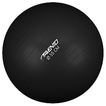 Avento Fitness-/Gymnastikball Durchm. 55 cm Schwarz