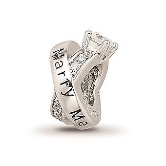 925 reflejos de plata esterlina ródano CZ Zirconia cúbica zirconia diamante simulado anillo de compromiso abalorios regalos de joyería para W