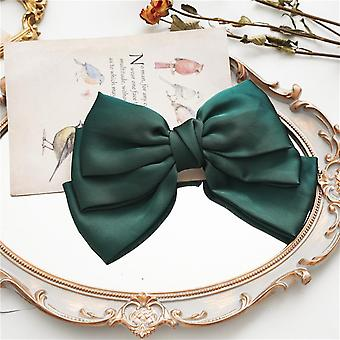 Women's hair ring three-layer bow barrettes spring clip