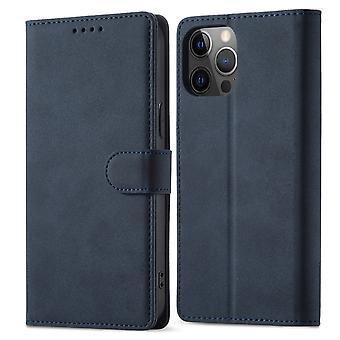Flip folio leather case for samsung s21 fe blue pns-4192