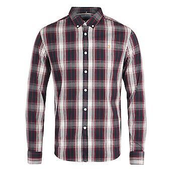 Farah Brewer Tartan Slim Fit Raspberry Shirt