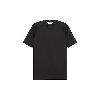 Z Zegna Miesten Musta T-paita
