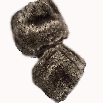 Inverno Donne Morbido Elastico Polso Slap On Cuffs Braccio Più Caldo Peluche