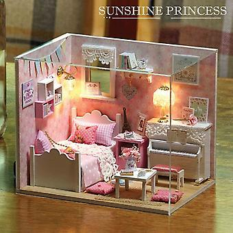Diy mini house building model assembled toy children's birthday goods christmas gift