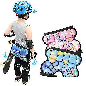 طفل أزرق الورك لينة وسادة حامي الثلج الصعود ركوب الدراجات الأسطوانة التزلج على الجليد x4689
