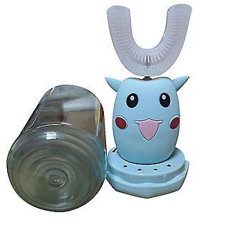 الأزرق التلقائي فرشاة الأسنان الكهربائية الاطفال ش على شكل صوت ذكي x7801