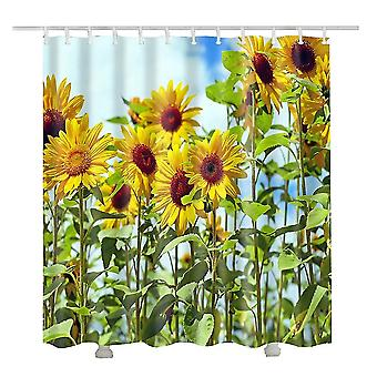 For Sunflower shower curtain for the bathroom curtainfloral arrival 3d shower curtains(180*180cm) WS13565