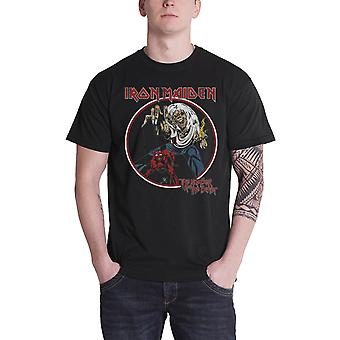Iron Maiden T Shirt Number of the Beast Vintage Logo Official Mens New Black