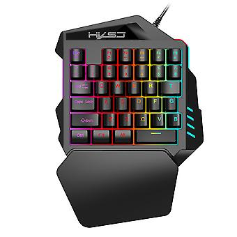 Rgb Wired One Hand Gaming Keyboard