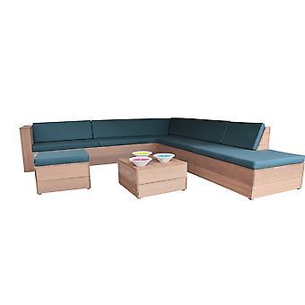 Wood4you - Lounge Set 7 Bankirai 250cm/200cm inkl. Kissen (GL Form)