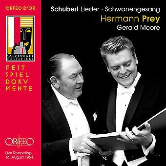 Schubert / Prey / Moore - Lieder [CD] USA import