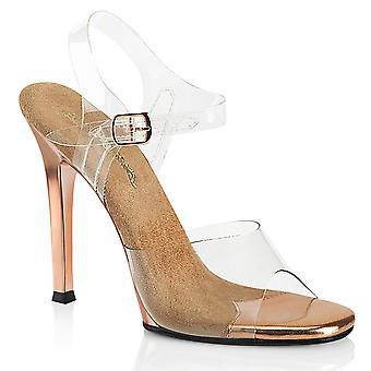 Fabulicious Women's Shoes GALA-08 Clr-Rose Gold/Rose Gold Chrome