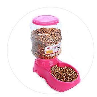 3.5L lemmikkieläin automaattisesti ruokinta-allas (vaaleanpunainen)