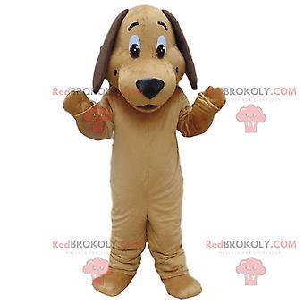 Maskottchen REDBROKOLY.COM von beige Hund, Hündchen-Verkleidung, Hundeverkleidung