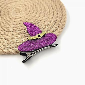 New Halloween Girl Crocodile Hair Clips Ghost / Witch Hat / Pumpkin / Cat Baby Hairpin Hair Accessories For Halloween Ball Gown