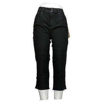 NYDJ Jeans de mujer Cool Abrazar Skinny Crop con rendijas laterales azul A377694